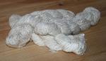 white sari silk