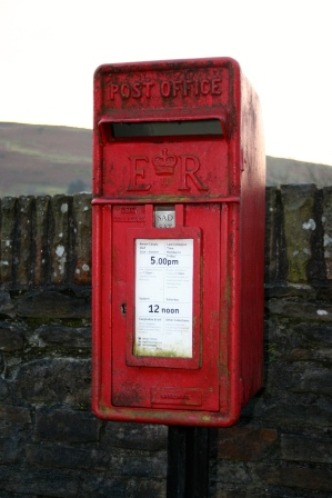 next post box, showing 12 noon...