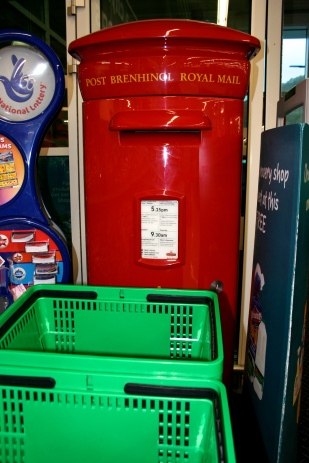 Asda's post box - last collection 9.30 am