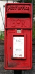 picture of a post box, just for fun - see my recent blogs about Royal Mail