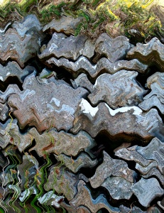 the banner for this site comes from the top of this photograph of a dry stone wall - photoshopped