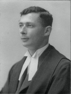 My father as a young man, in his legal robes, having just qualified as a solicitor - circa 1945