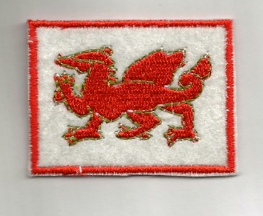 iron/sew on fabric welsh badge