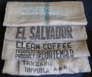 coffee sacks made of jute