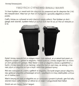 the welsh language version of The Big Bin Swap