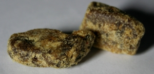 nuggets of amber resin