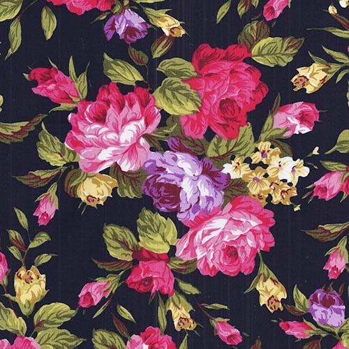 classic pink rose group - 110 cm wide