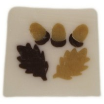 oak leaves and acorns - sandalwood