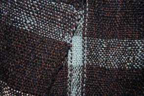 Woven by Julz - detail of a scarf I made for my brother, on a rigid heddle table loom - I think he's lost it already!