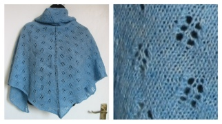 Designed & knitted by Gilleoin Finlay - Coull . See her shop https://www.etsy.com/uk/shop/Woolrush where she sells her patterns and handspun yarns.