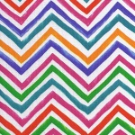 multicoloured zig zag design