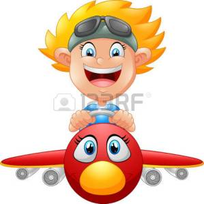 47429422-cartoon-boy-flying-plane