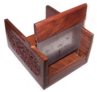 carved wooden soapcutter