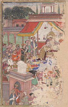 220px-Jahangir_investing_a_courtier_with_a_robe_of_honour_watched_by_Sir_Thomas_Roe,_English_ambassador_to_the_court_of_Jahangir_at_Agra_from_1615-18,_and_others