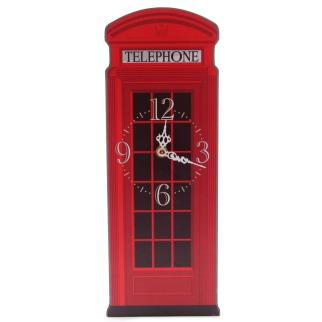 Iconic British Telephone Box Clock