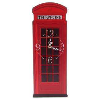 Iconic British Telephone Box Clock