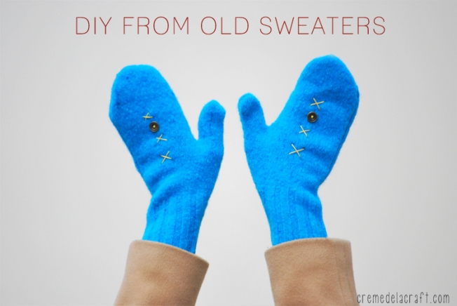 DIY-Make-Sew-Mittens-Recycle-Sweaters-Craft-Idea